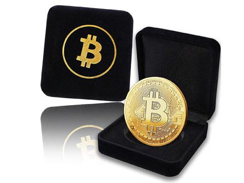 Moneda Bitcoin fisica